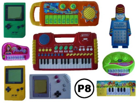 Here are just some of the electronic device Pixelh8 programs to produce his 8-bit genius musical tracks