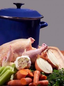 Here I will explain how to make a great chicken stock and the basis of any great soup is a great stock.