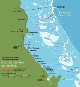 Map for the Barrier Reef