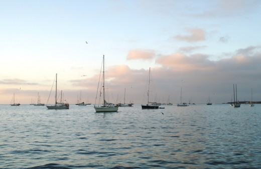 The evening at anchor in Turtle Bay - Pacific Coast of Baja  (Not exactly in the Sea, but a shot I couldn't leave out