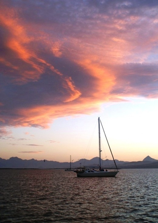Sunset at Islas Los Coronados - North of Loreto, MX - Sea of Cortez