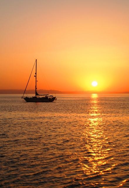 Sunset from Balandra Bay - La Paz, MX - Sea of Cortez