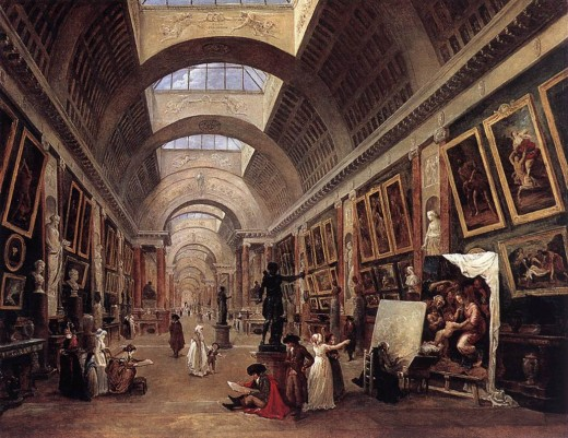 "Hubert Robert- ""The Louvre"""