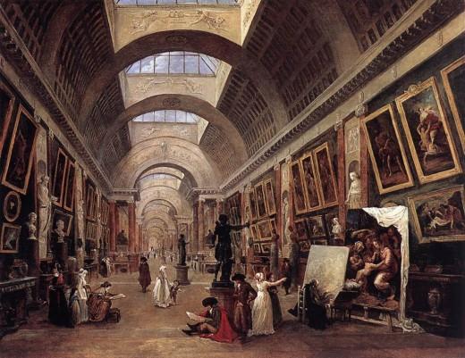"""Hubert Robert- """"The Louvre"""""""