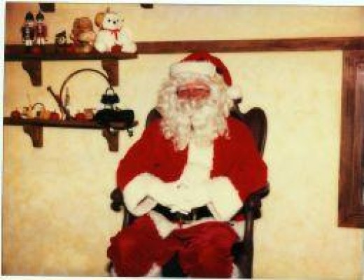 Me working as Santa Claus