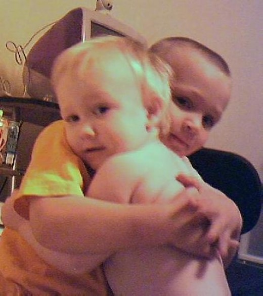 The world could use a few more hugs...  This is Marc and Travis a few years ago.