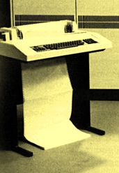 Typical input/output teletype used in 1970s-1980s.