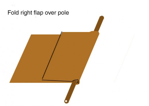 Fold the right flap over