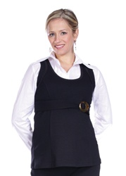 maternity tunic with crop blouse, Japenese Weekend White Collection, $119.00, bellablumaternity.com, sizes S, M, L     Photo credit bellablumaternity.com