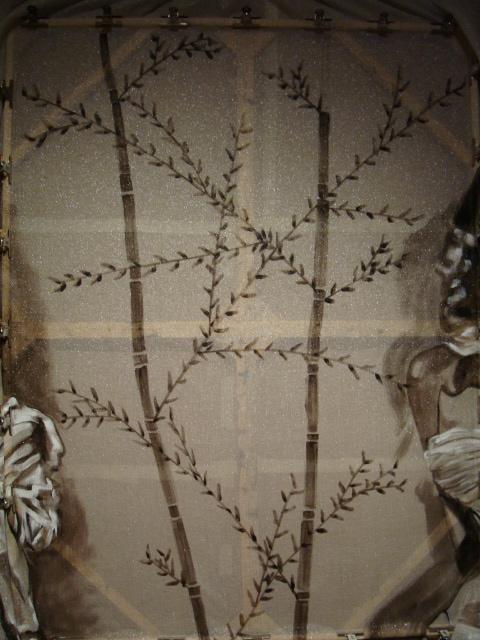 close up of bamboo patterning.