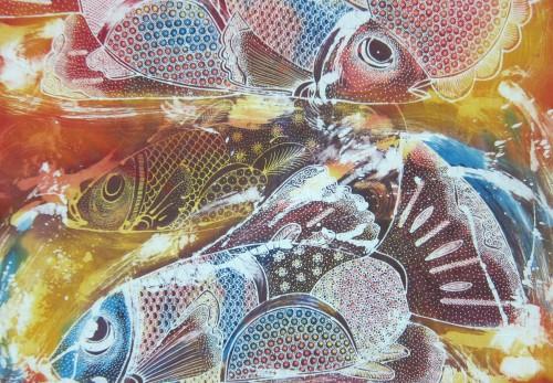 Batik art - fishes