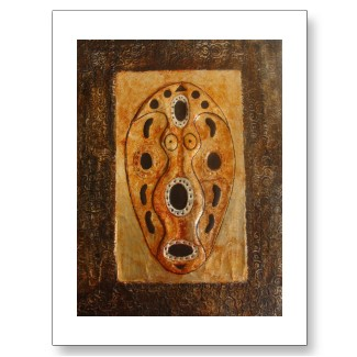 African Art Mask Postcards available at http://www.zazzle.com/injete*