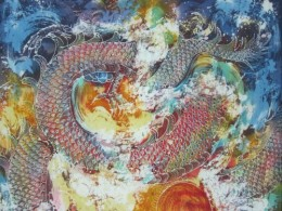 Batik art - dragon