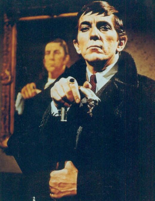 Jonathan Frid as Barnabas, the reluctant vampire