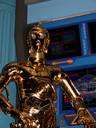 """Well what do think one of the two best droids' """"I'd like to thank me Mam and Dad and all the people who voted for me."""