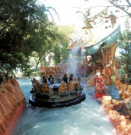 You run into surprises on this water ride!