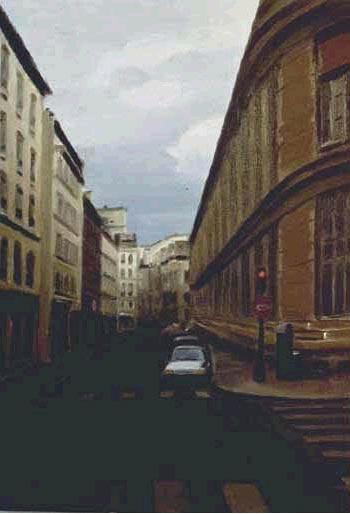 Down a Parisian Street