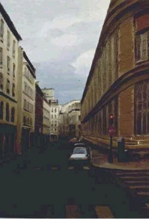 Down a Parisian Street