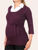3/4 sleeve mock layer maternity sweater, $39.99, motherhood.com, photo credit, motherhood.com
