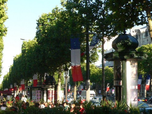 Avenue des Champs d'Elysees on Bastille Day