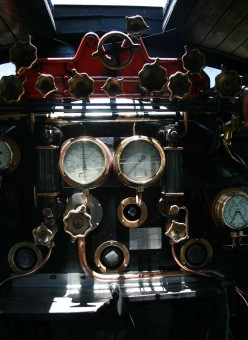 Lovingly restored gauges and controls