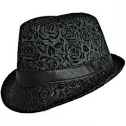 Black fedora hat for women