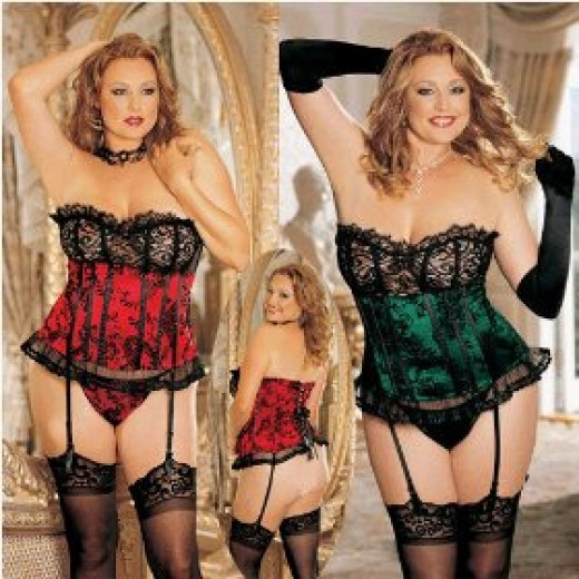 Strapless corset for women with the fuller figure
