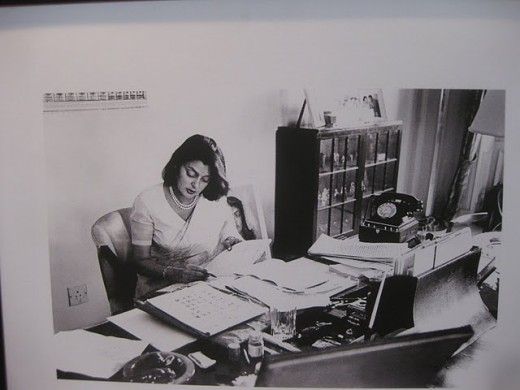 Maharani Gayatri Devi at her study