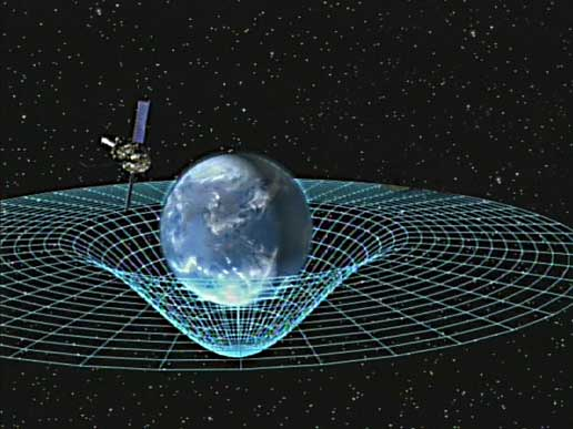 The spacetime curvature. (Credit www.nasa.gov)