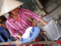 Peddler of soya bean curd
