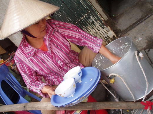 Peddler of soya bean curd