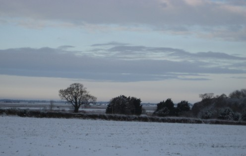 England a snowy winter landscape