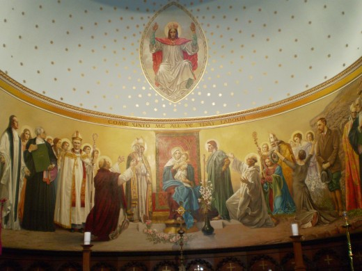 The mural at All Saint's Anglican Church.