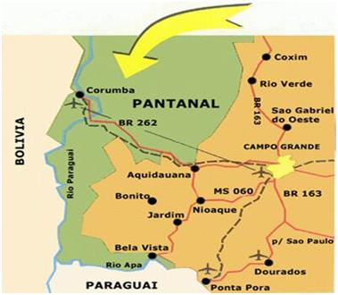 Corumba, the entry point to Panatal.