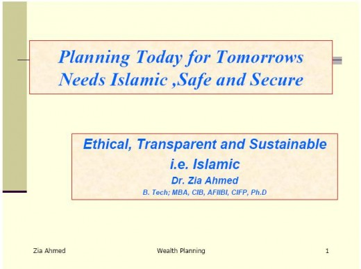 Wealth Planning in Islam