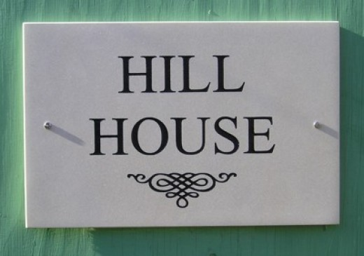 Indian Sandstone House Sign - This is the real thing!