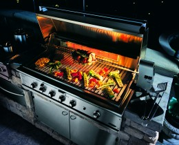 DCS - Dynamic Cooking Systems is the best example of a BBQ Grill using conduction to create searing temperatures.