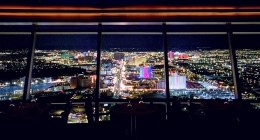 Top of the World Restaurant boasts a magnificent view of the city