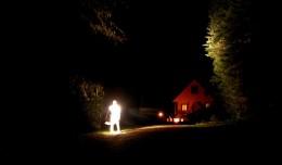 A glowing man...?