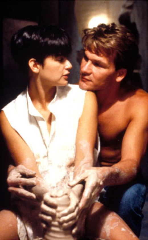 Patrick Swayze as a ghost in one of his most famous roles