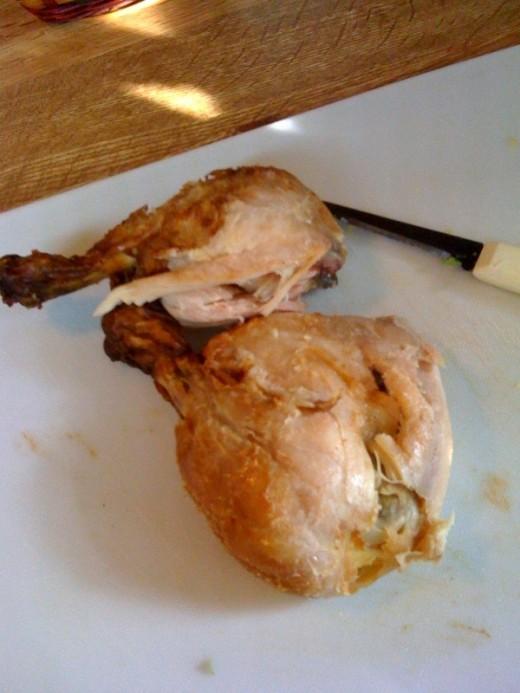 Chicken legs with dark meat