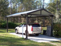 Carport single slope carport kits for Single slope carport