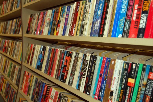 Older paperbacks are the most common type of book at used bookstores