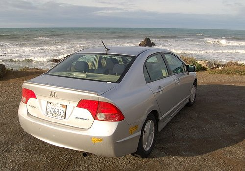 The Honda Civic hybrid - a good choice when renting your next hybrid vehicle.  Photo by markus941 on flickr, under Creative Commons 2.0.