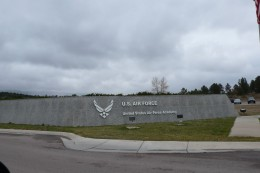 The Air Force Academy sign.
