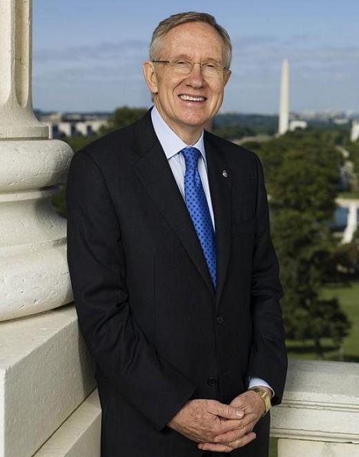 Senator Harry Reid (Public Domain Photo courtesy of WikiPedia.org  http://en.wikipedia.org/wiki/File:Harry_Reid_official_portrait_2009.jpg )