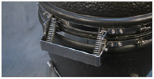 most kamado ceramic smokers will be very heavy so inspect the bands and hinges to ensure you will be comfortable and safe opening and closing the hood.