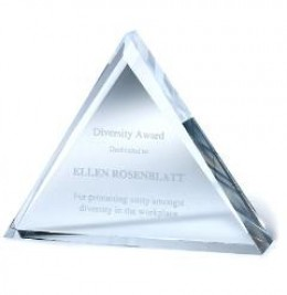 Reward your top achievers with this dazzaling Crystal Award Triad.