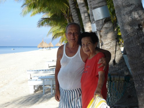My dearest Pa & Ma, Bohol Beach Club, Bohol Island, Phil.