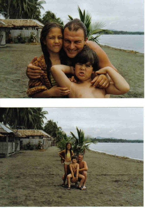 My Husband, Daughter & Son, Buenavista Beach, Phil.